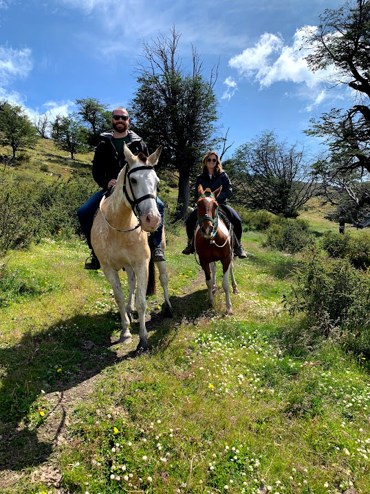 Don't worry, you don't have to get around on horseback! This was just one of the activities we did from El Calafate.