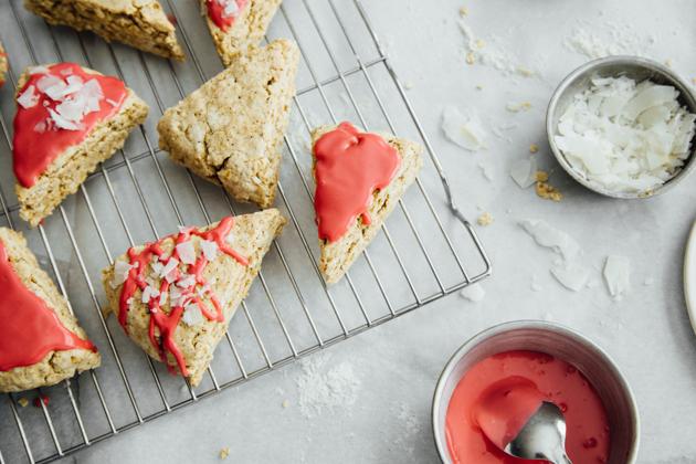 Vanilla Bean Scones with Raspberry Glaze Recipe