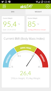 Weight Loss Tracker, BMI - náhled
