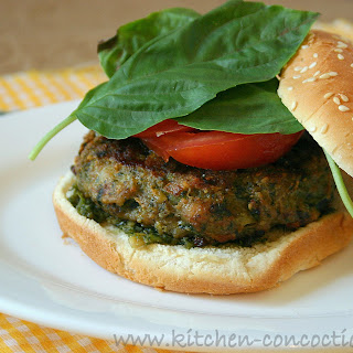 Parmesan Pesto Chicken Burgers