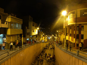 Photo: Part of the crowd on the way up to the parade, Ambato