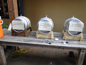 Photo: Casks were kept on the cool patios of 5 Seasons Brewing and Taco Mac Prado.