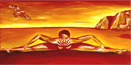 Photo: Die Überwindung, Öl auf Leinwand, 2000, 80 x 40 cm