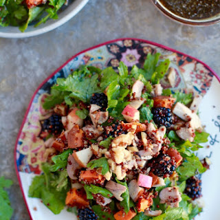 The Ultimate Fall Salad with Maple Pumpkin Chia Dressing // Gluten & Dairy Free.