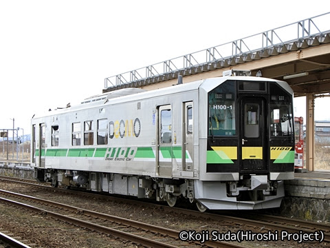 JR北海道 H100形 長万部にて