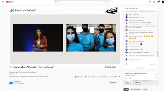 Estudiantes de Almería analizan el marco post-pandemia en EduCaixa Challenge