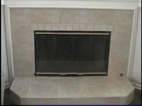 Photo: fireplace tiled