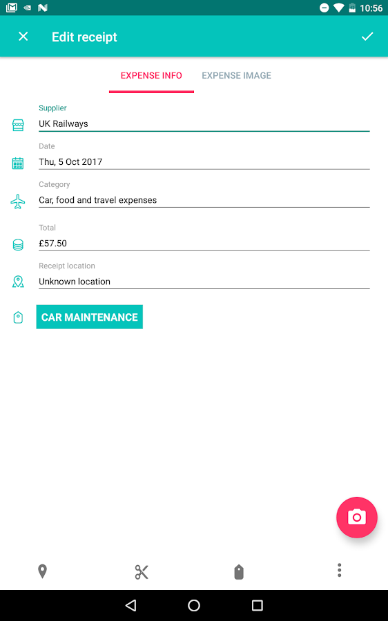 1tap receipts Tax Calculator & Receipt Scanner- screenshot