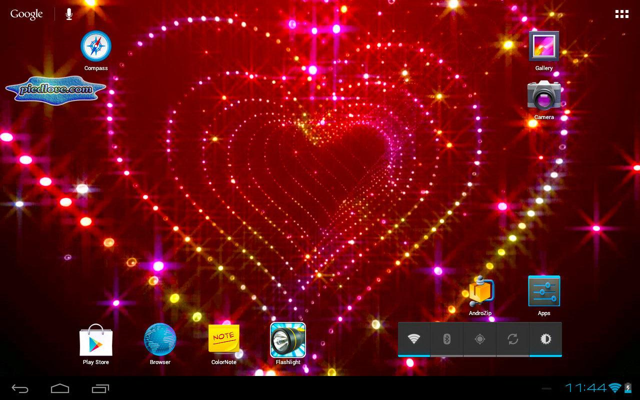 Tunnel Glitter Spark Heart 3D- screenshot