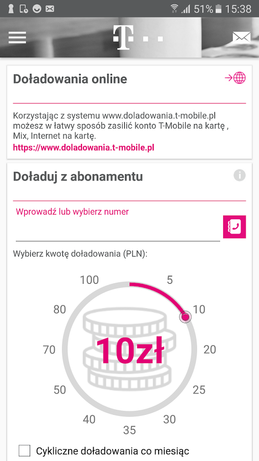 Mój T-Mobile- screenshot