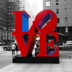 love by Tyler Sleap - City,  Street & Park  Street Scenes ( love, new, manhattan, york, monument, city )
