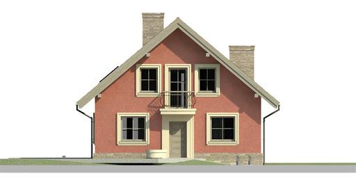 Dom przy Cyprysowej 16 - Elewacja przednia