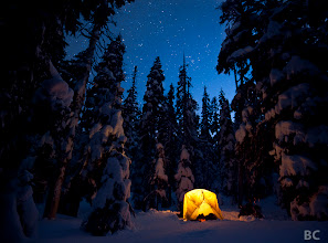 Photo: Brrrr! It's getting cold out here in Oregon, time to break out the Winter camping gear! Here's a shot from last year's snowy adventures. This was one of the coldest nights I've been out with a camera. If all goes according to plan, I'll have a new picture to share tomorrow. I think you're going to like it :-) Where was the coldest night you camped out?