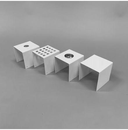 Tillbehör till dekorlåda vit och betonggrå
