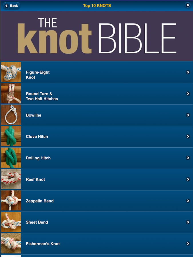 Knot Bible - top boating knots- screenshot