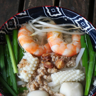 Pork and Seafood Noodle Soup.