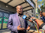 ANC KZN SG Mdumiseni Ntuli addresses media outside the ANC provincial office on Wednesday