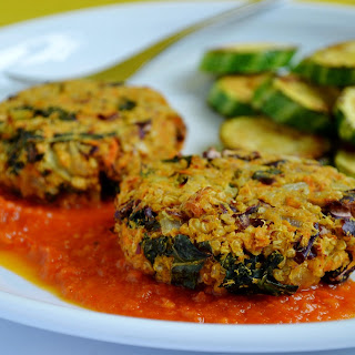 Kidney Bean, Sweet Potato & Quinoa Patties.