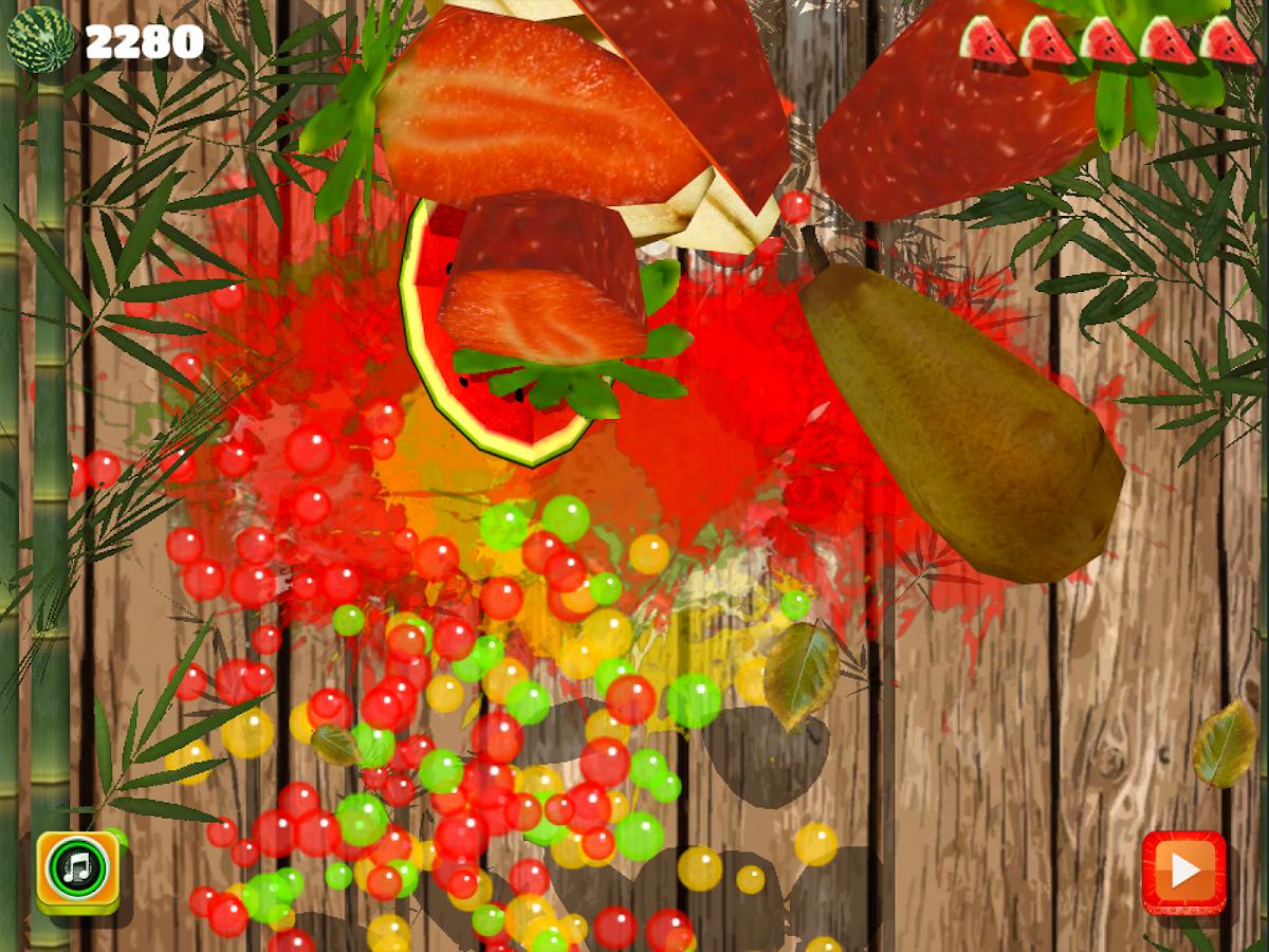 Cut fruits game - Easy To Cut Fruit 3d New Game Screenshot
