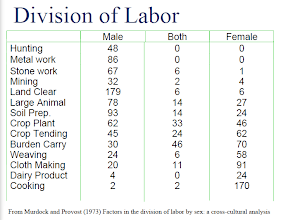 Photo: A few variables from the former list are selected here. We can again see a pattern in social structures.  By studying some the jobs that are done by females but should have been male jobs only the authors saw that they were defined in a wrong way.