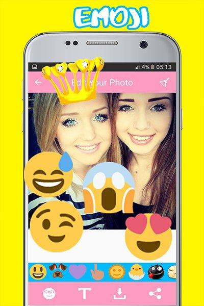 photo filters for snapchat with face Stickers- screenshot