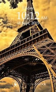 Paris Lock Screen Passcode screenshot