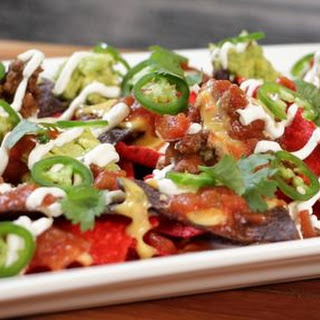 Gameday Nachos with Queso.