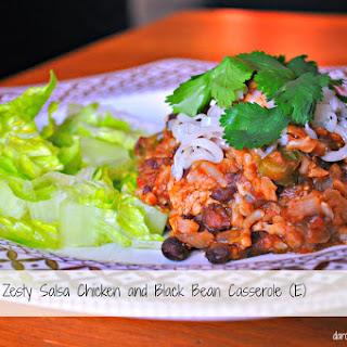 Zesty Salsa Chicken and Black Bean Casserole (Thm: E, Low-fat).