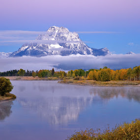 Snake River Morning by Richard Duerksen - Landscapes Mountains & Hills ( mt. moran, snake river, oxbow bend, grand teton np, , #GARYFONGDRAMATICLIGHT, #WTFBOBDAVIS )