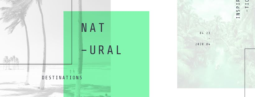 Natural Destinations - Facebook Page Cover Template