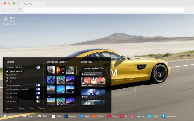 Mercedes-Benz AMG GT Pop HD Car New Tab Theme