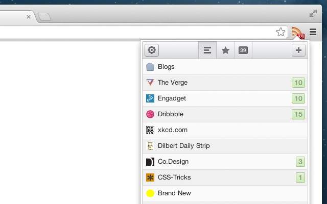 RSS Feed Reader chrome extension