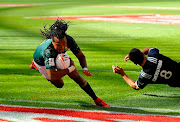 Cecil Afrika of South Africa during day 2 of the 2017 HSBC Cape Town Sevens Semi Final match between South Africa and New Zealand at Cape Town Stadium on December 10, 2017 in Cape Town, South Africa.