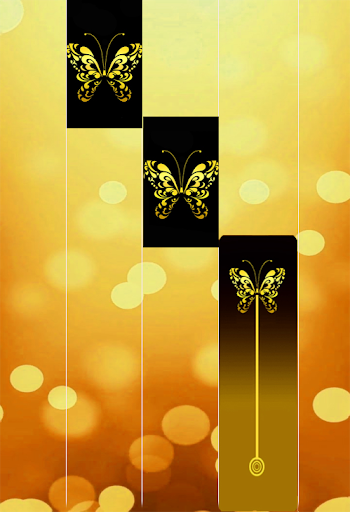 Gold Glitter ButterFly Piano Tiles 2018 1.4 DreamHackers 1