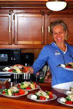 Photo: Nancy with Crab Cob Salad