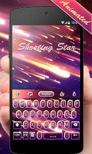 Shooting Star GO Keyboard Animated Theme - náhled