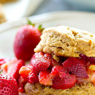 Coconut Oil Biscuits with Fresh Strawberry Preserves
