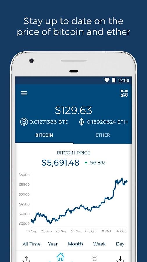 Blockchain wallet app for