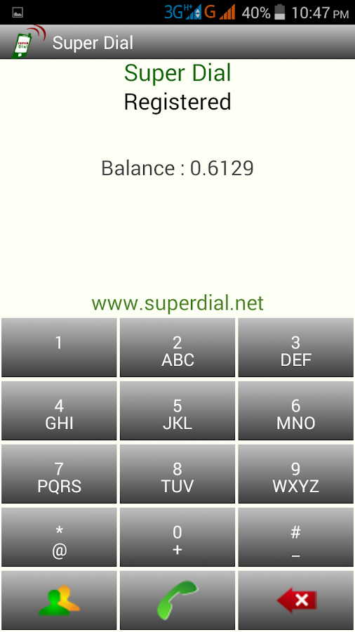 SuperDial- screenshot