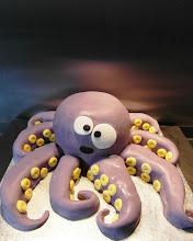 Photo: Gluten free purple octopus cake