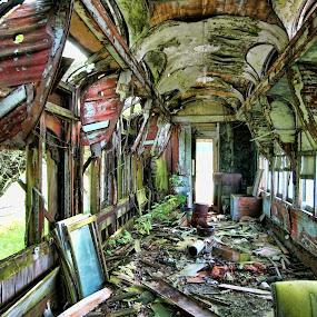 Ruins of 1909 Barney & Smith Sleeper Car by Dana Styber - News & Events World Events ( travel train transportation, historical )
