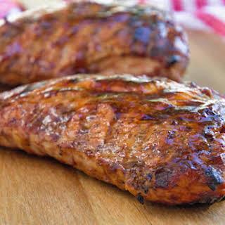 Grilled BBQ Turkey Tenderloin.