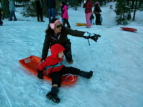 Photo: Mommy and Clark Sled