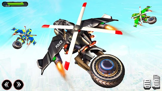 Flying Police Helicopter Bike Transform Robot Game 2
