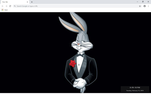 The Bugs Bunny New Tab Theme