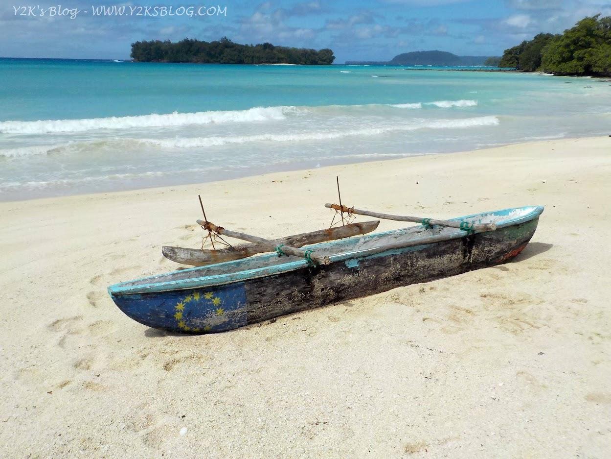 Vista sulla spiaggia da Chez Louis di Port Orly - Santo