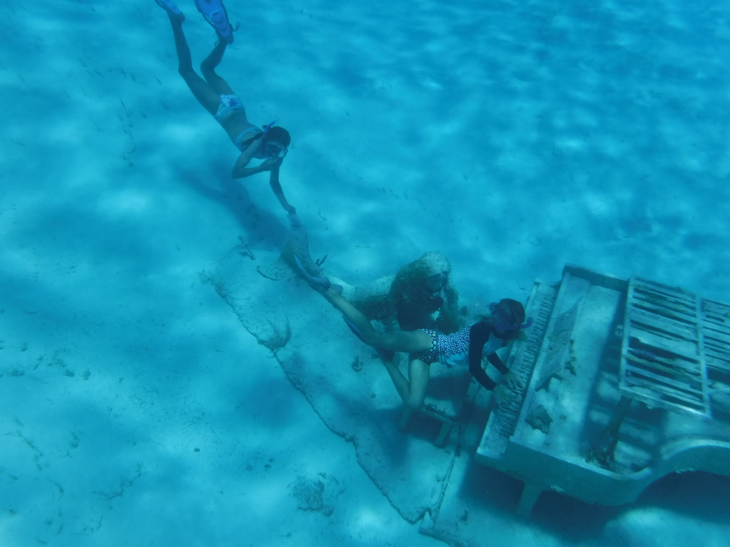 Playing the Mermaid Piano at Musha Cay, Bahamas