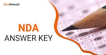 NDA Answer Key 2019 (NDA 2) - For GAT and Mathematics