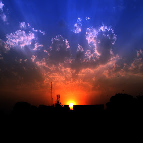 Cloudy Sunset by Nafees Bazmi - Landscapes Sunsets & Sunrises ( clouds, sunset )