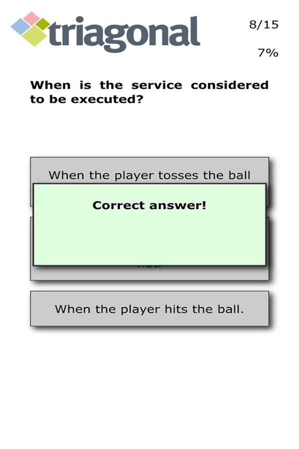 VolleyQuiz- screenshot